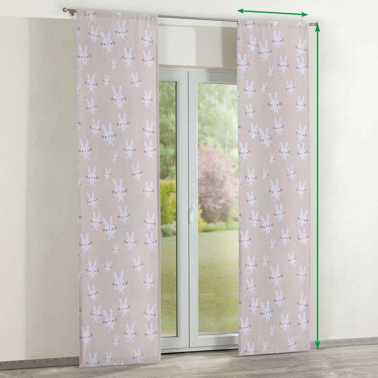 Slot panel curtains – Set of 2 in collection Apanona, fabric: 151-00