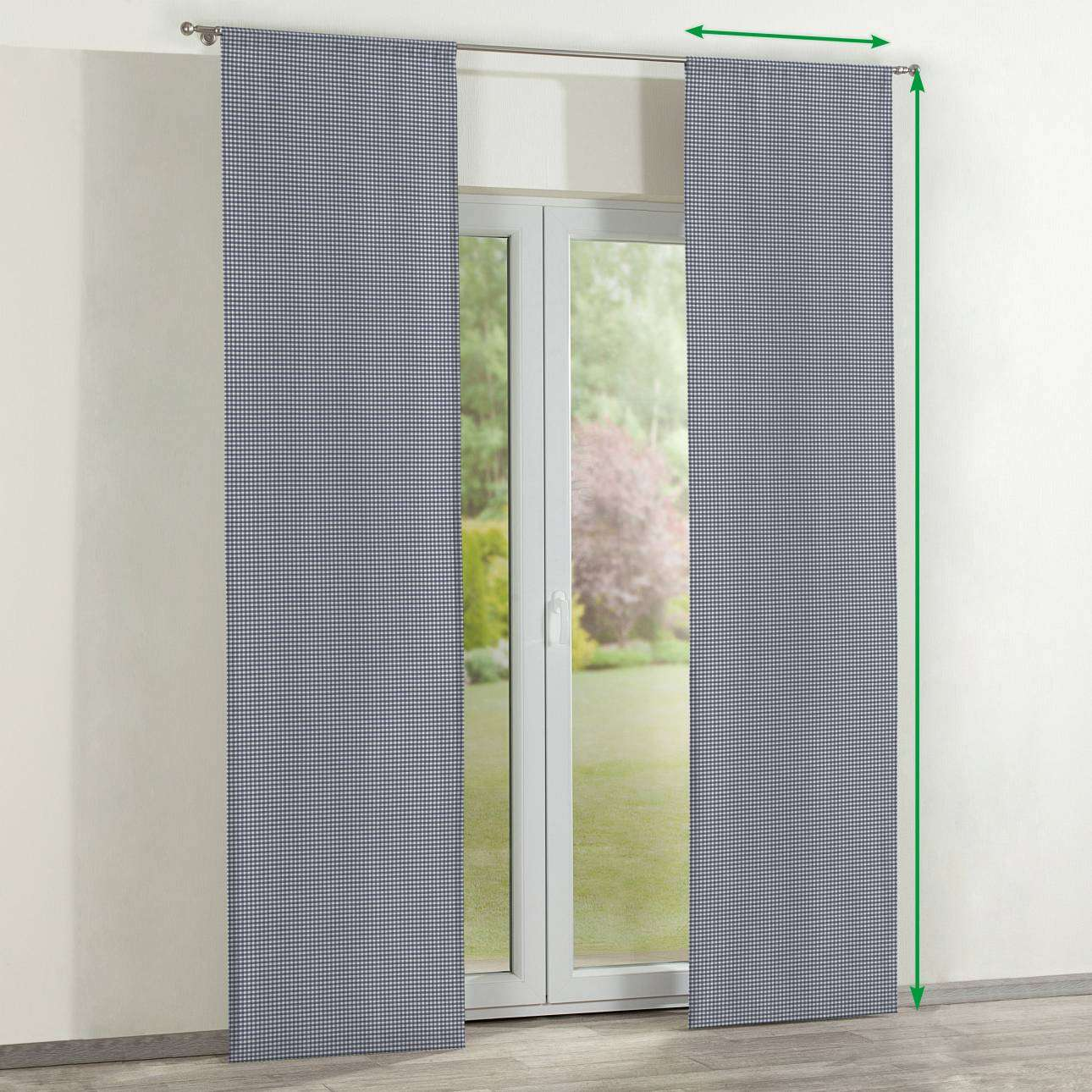 Zasłony panelowe 2 szt. w kolekcji Quadro, tkanina: 136-00