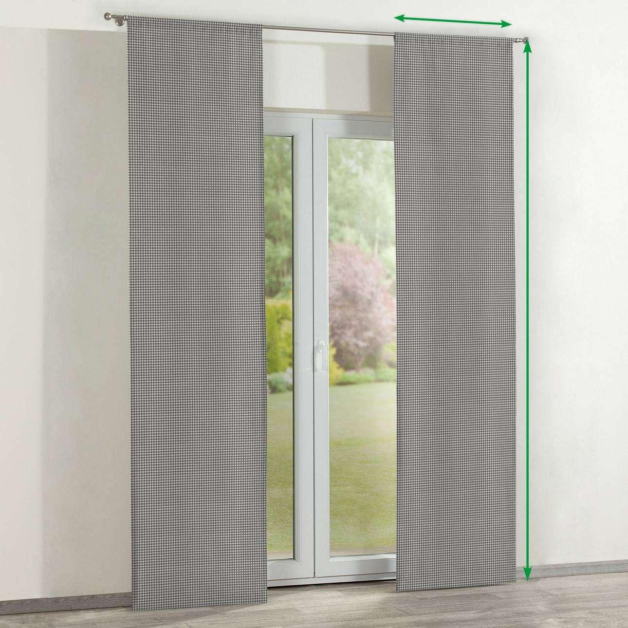 Zasłony panelowe 2 szt. w kolekcji Quadro, tkanina: 136-10
