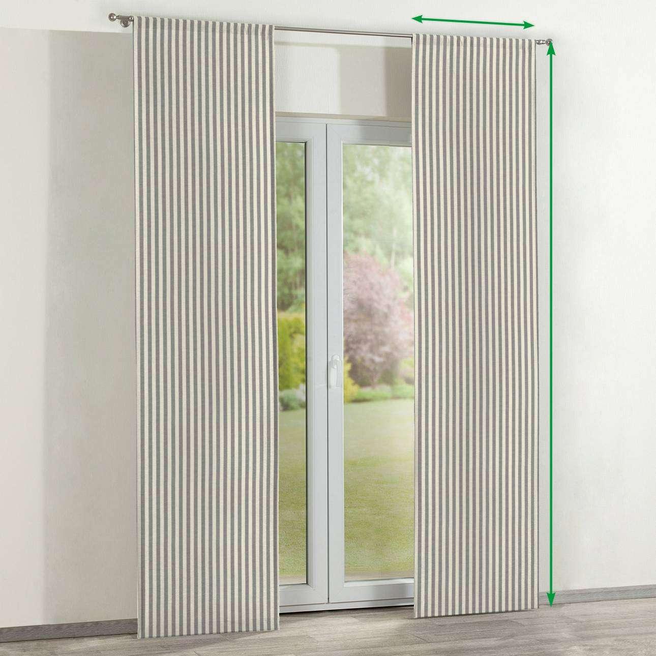Zasłony panelowe 2 szt. w kolekcji Quadro, tkanina: 136-12