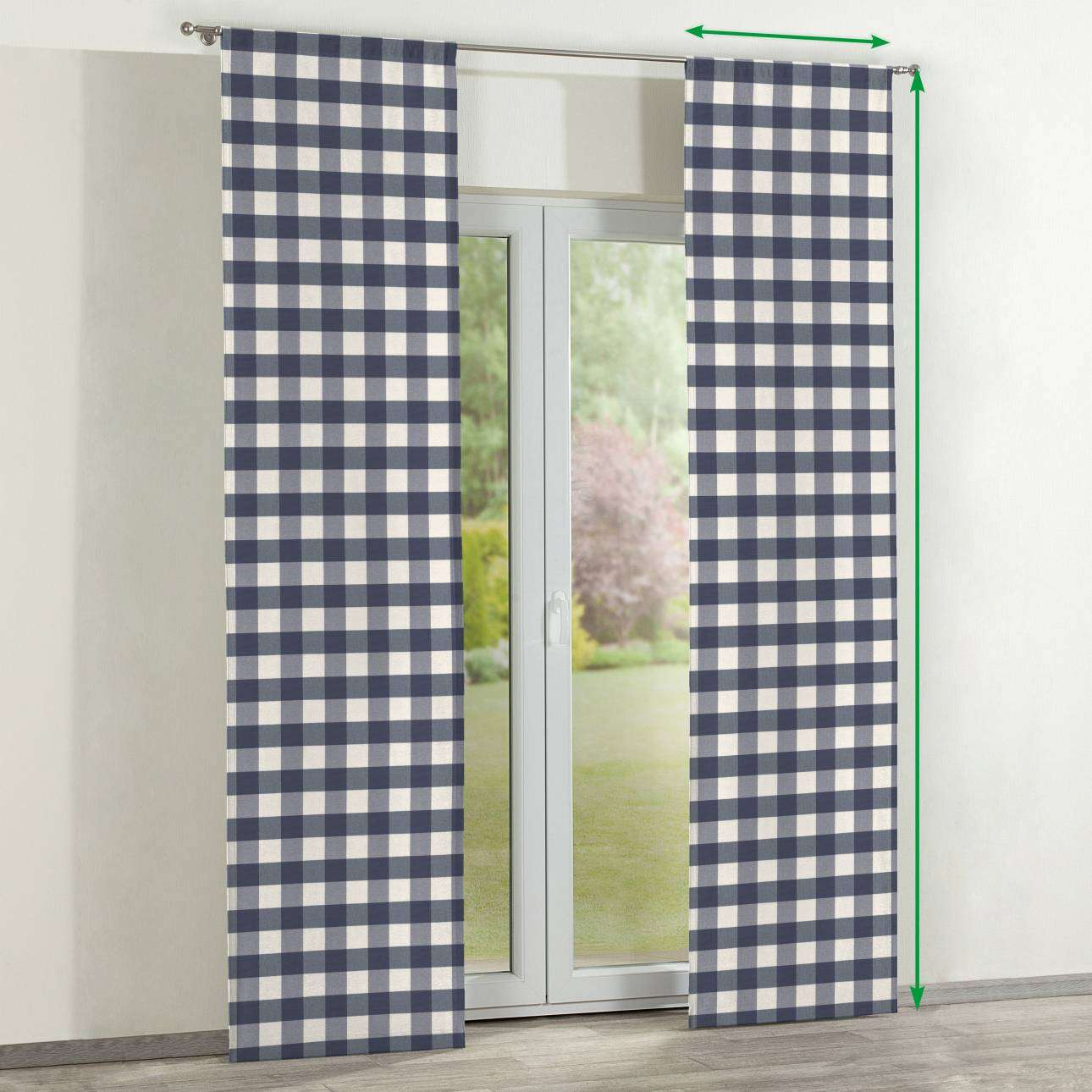 Panelové závesy 2 ks V kolekcii Quadro, tkanina: 136-03