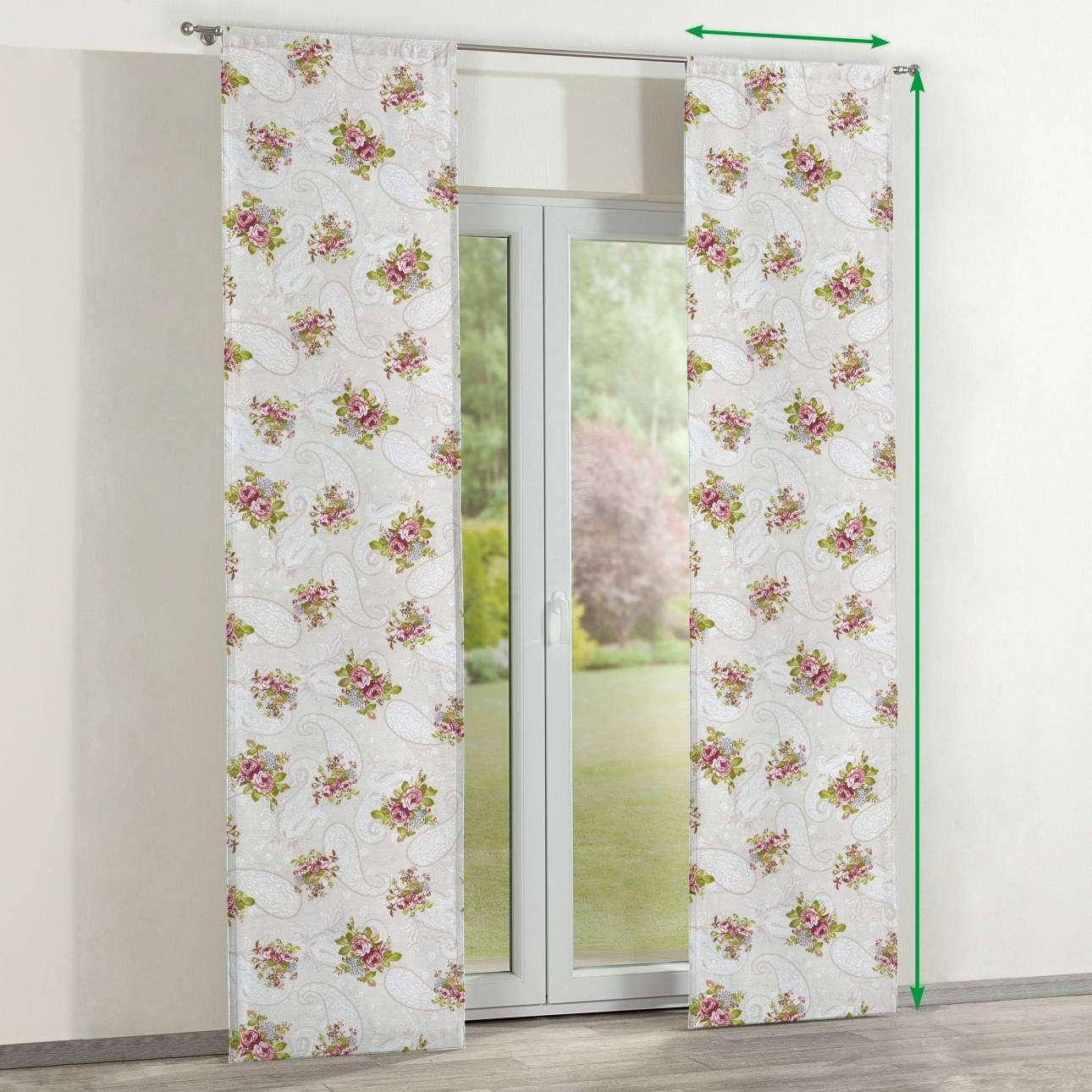 Zasłony panelowe 2 szt. w kolekcji Flowers, tkanina: 311-15