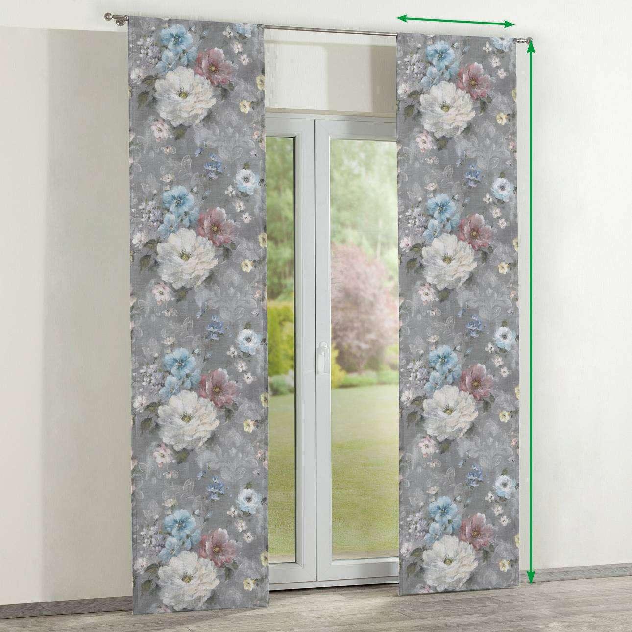 Zasłony panelowe 2 szt. w kolekcji Flowers, tkanina: 137-81