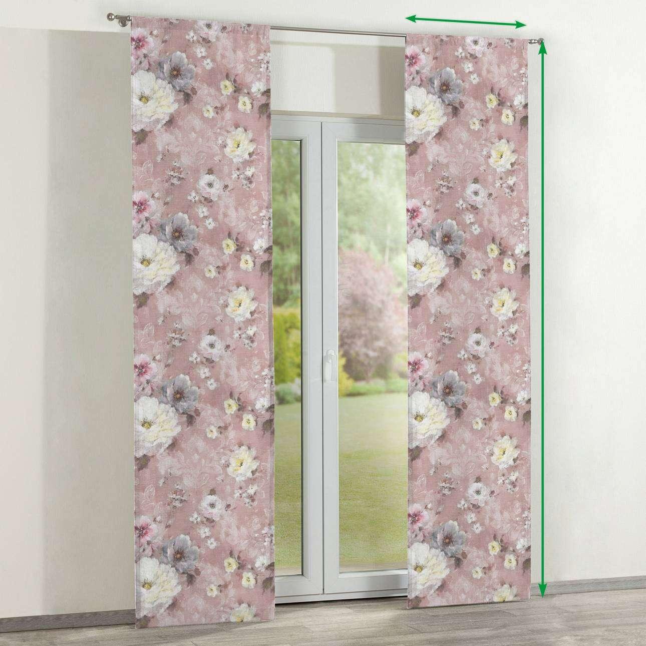 Zasłony panelowe 2 szt. w kolekcji Monet, tkanina: 137-83