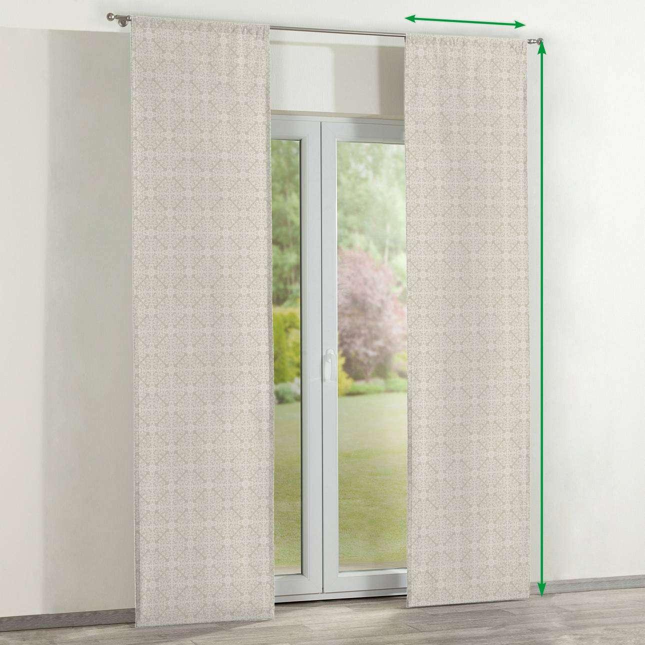 Zasłony panelowe 2 szt. w kolekcji Flowers, tkanina: 140-39