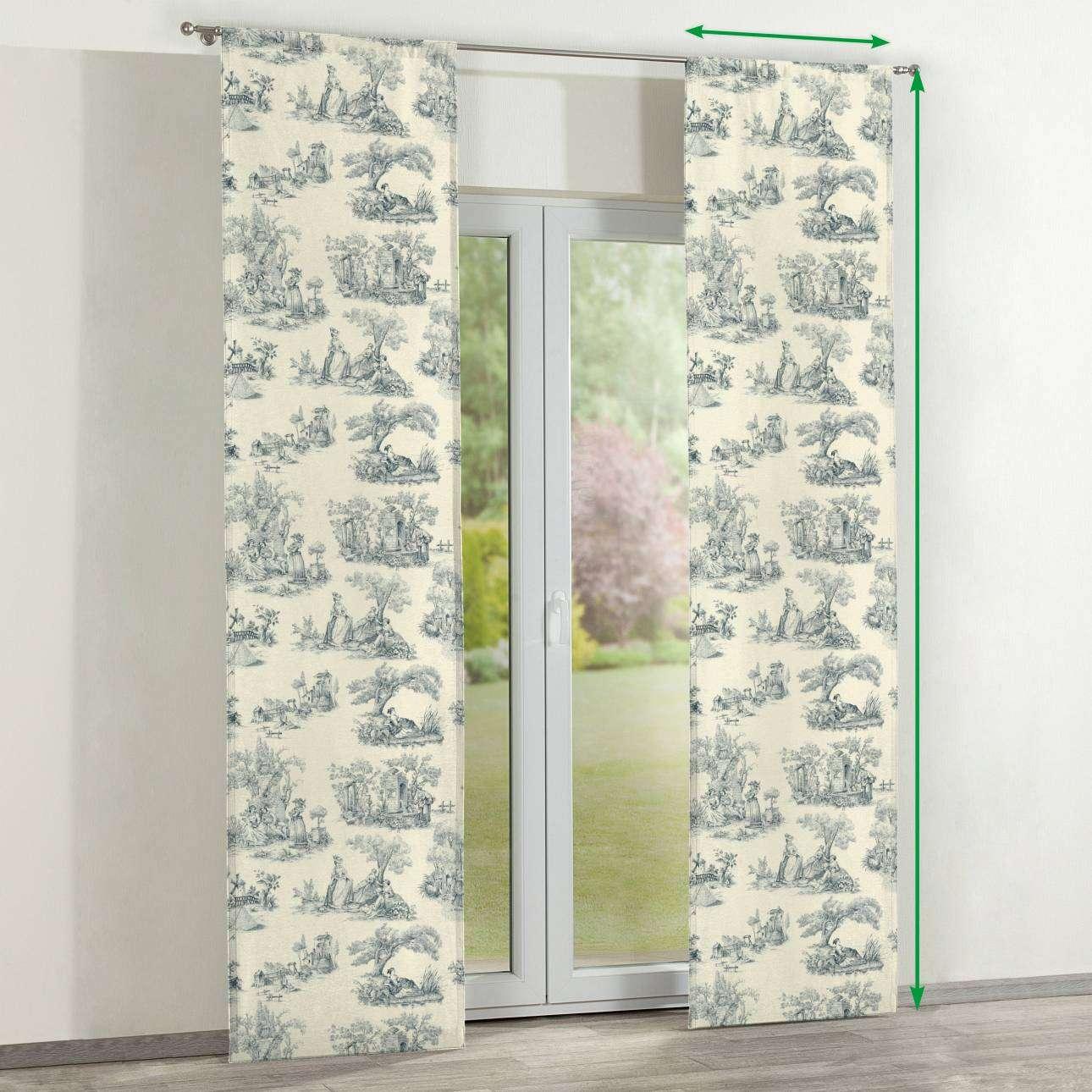 Zasłony panelowe 2 szt. w kolekcji Avinon, tkanina: 132-66