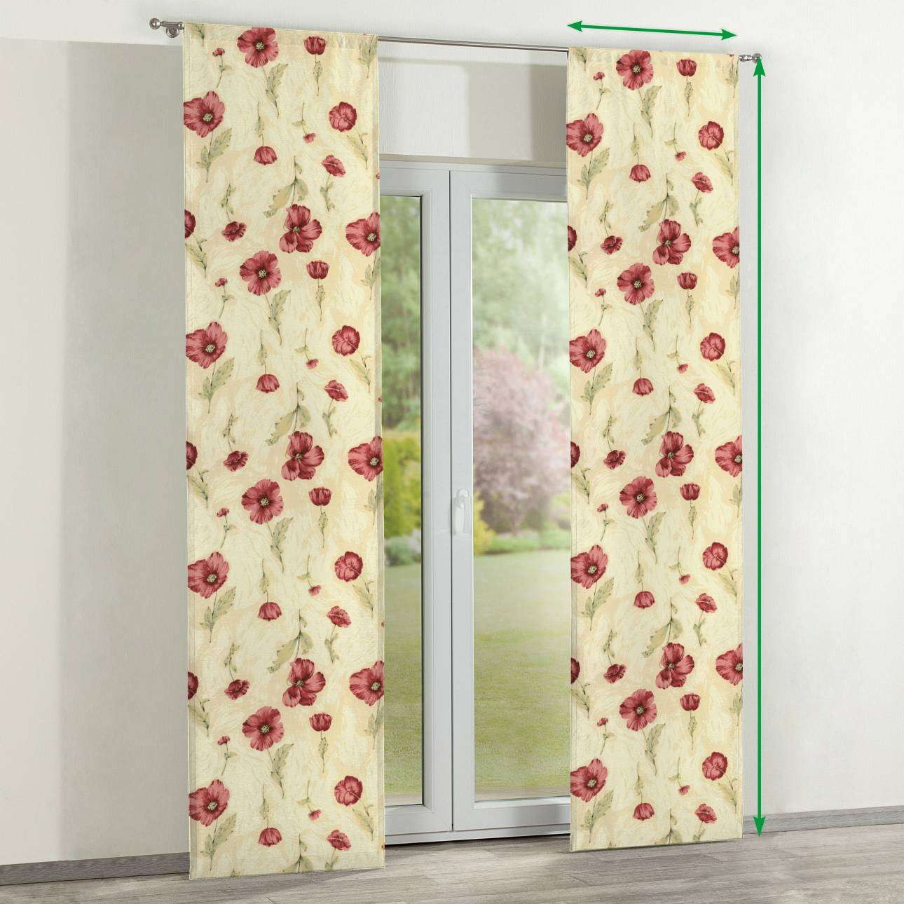 Slot panel curtains – Set of 2 in collection Flowers, fabric: 303-01