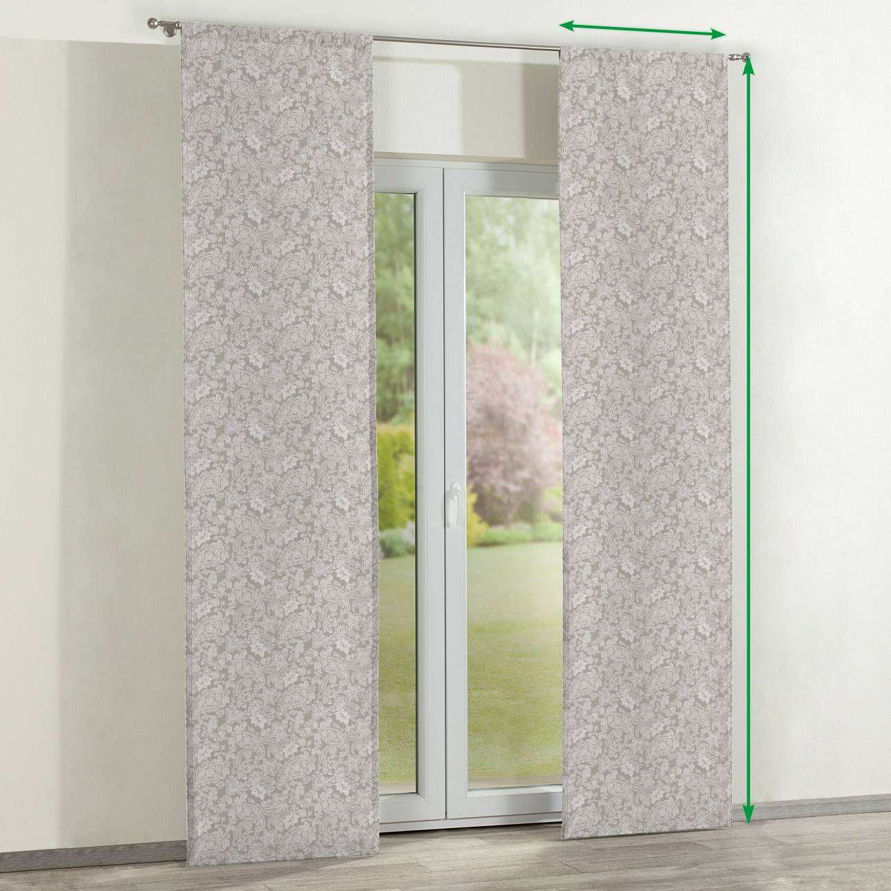 Slot panel curtains – Set of 2 in collection Flowers, fabric: 311-08