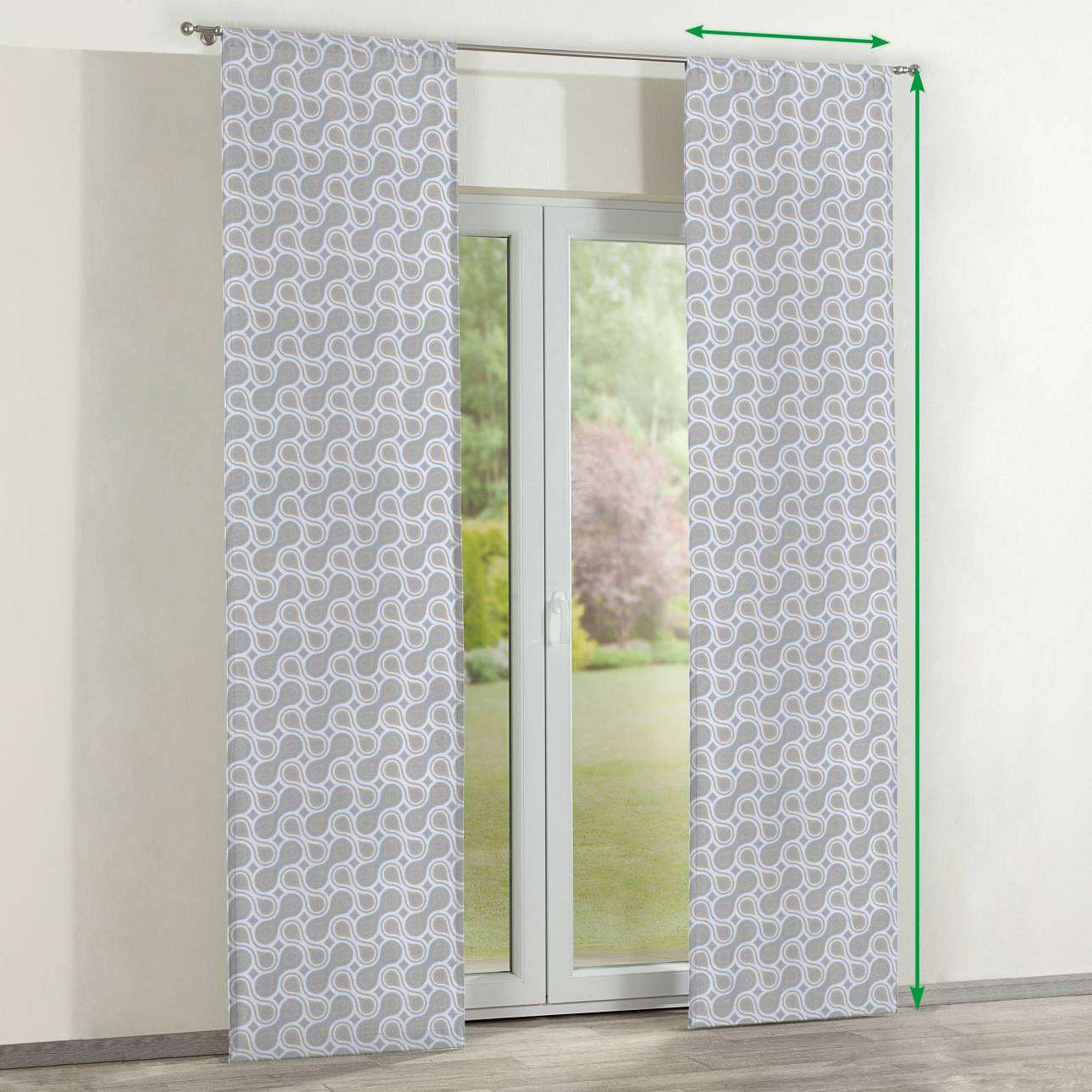 Slot panel curtains – Set of 2 in collection Flowers, fabric: 311-11