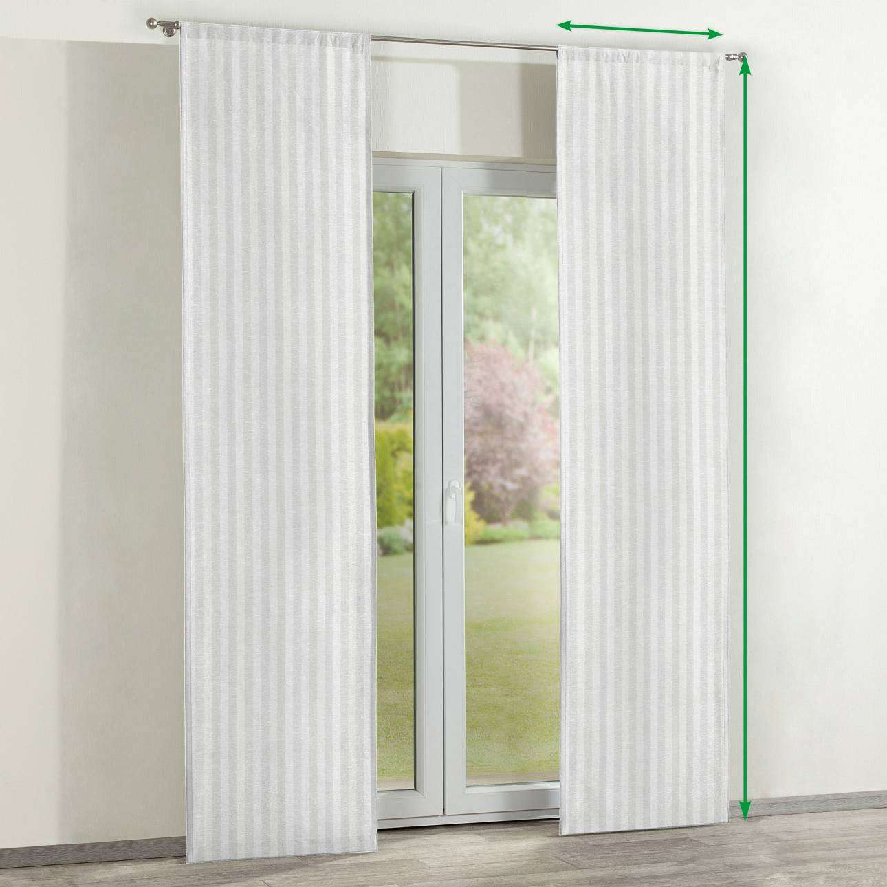 Slot panel curtains – Set of 2 in collection Linen , fabric: 392-03