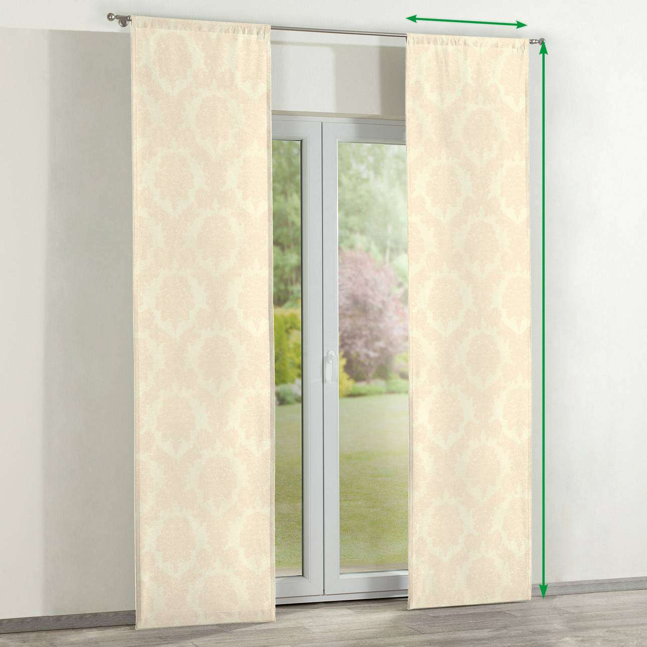 Slot panel curtains – Set of 2 in collection Damasco, fabric: 613-01