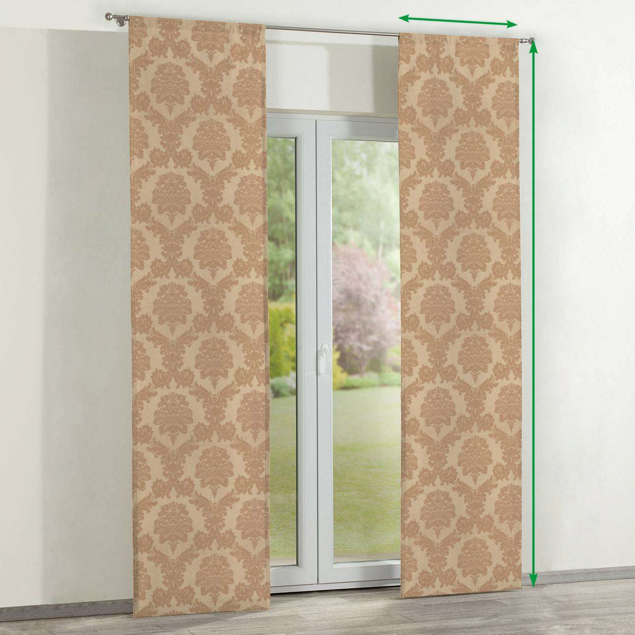Slot panel curtains – Set of 2 in collection Damasco, fabric: 613-04