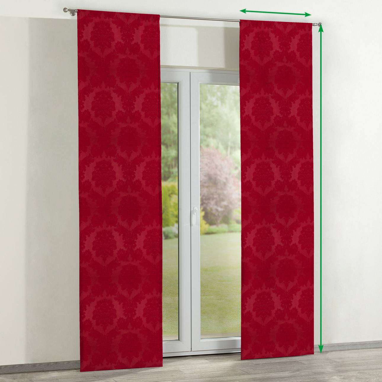 Slot panel curtains – Set of 2 in collection Damasco, fabric: 613-13