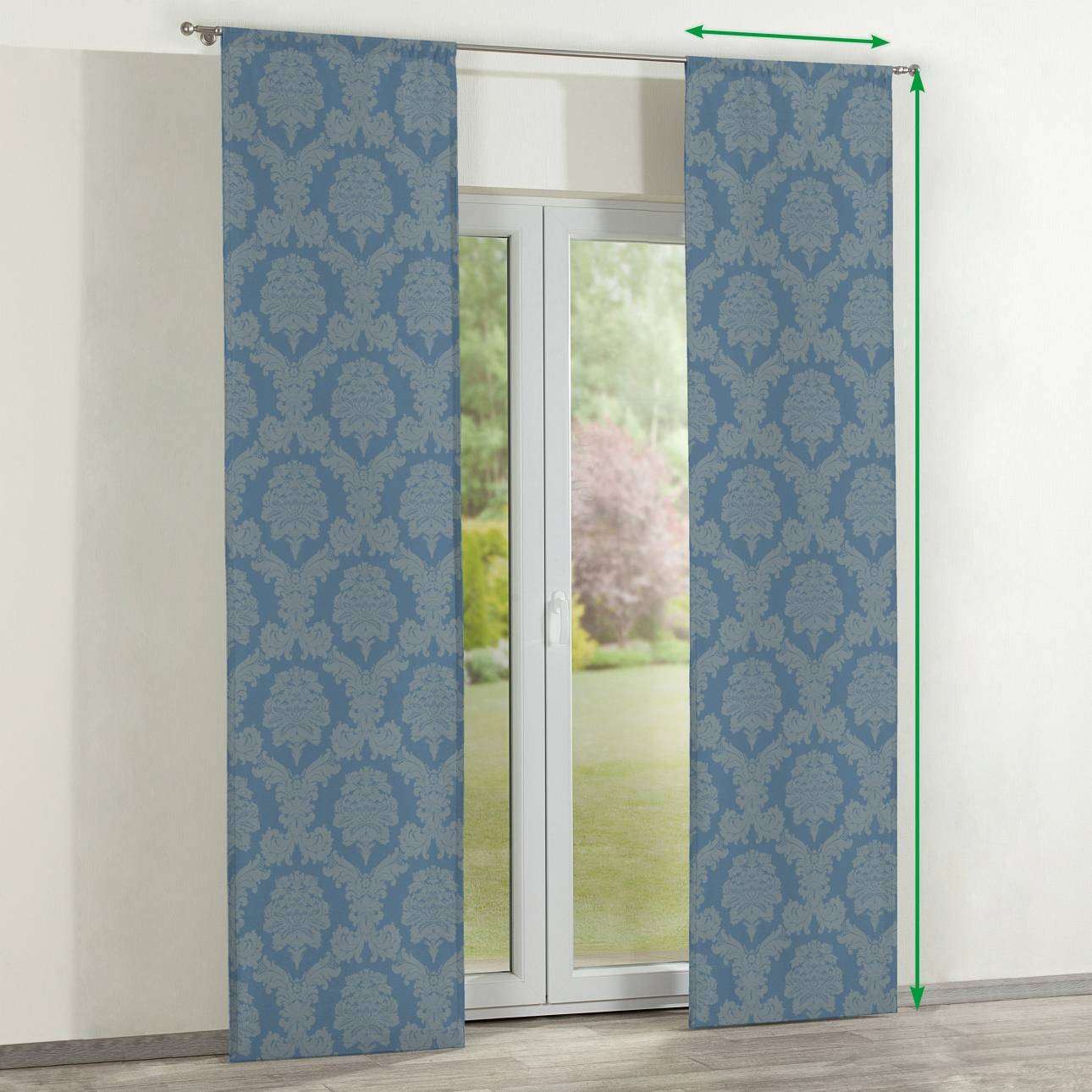 Slot panel curtains – Set of 2 in collection Damasco, fabric: 613-67
