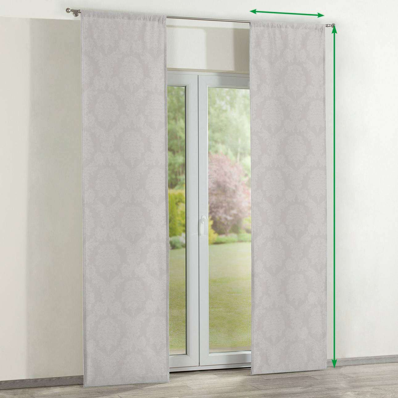 Slot panel curtains – Set of 2 in collection Damasco, fabric: 613-81