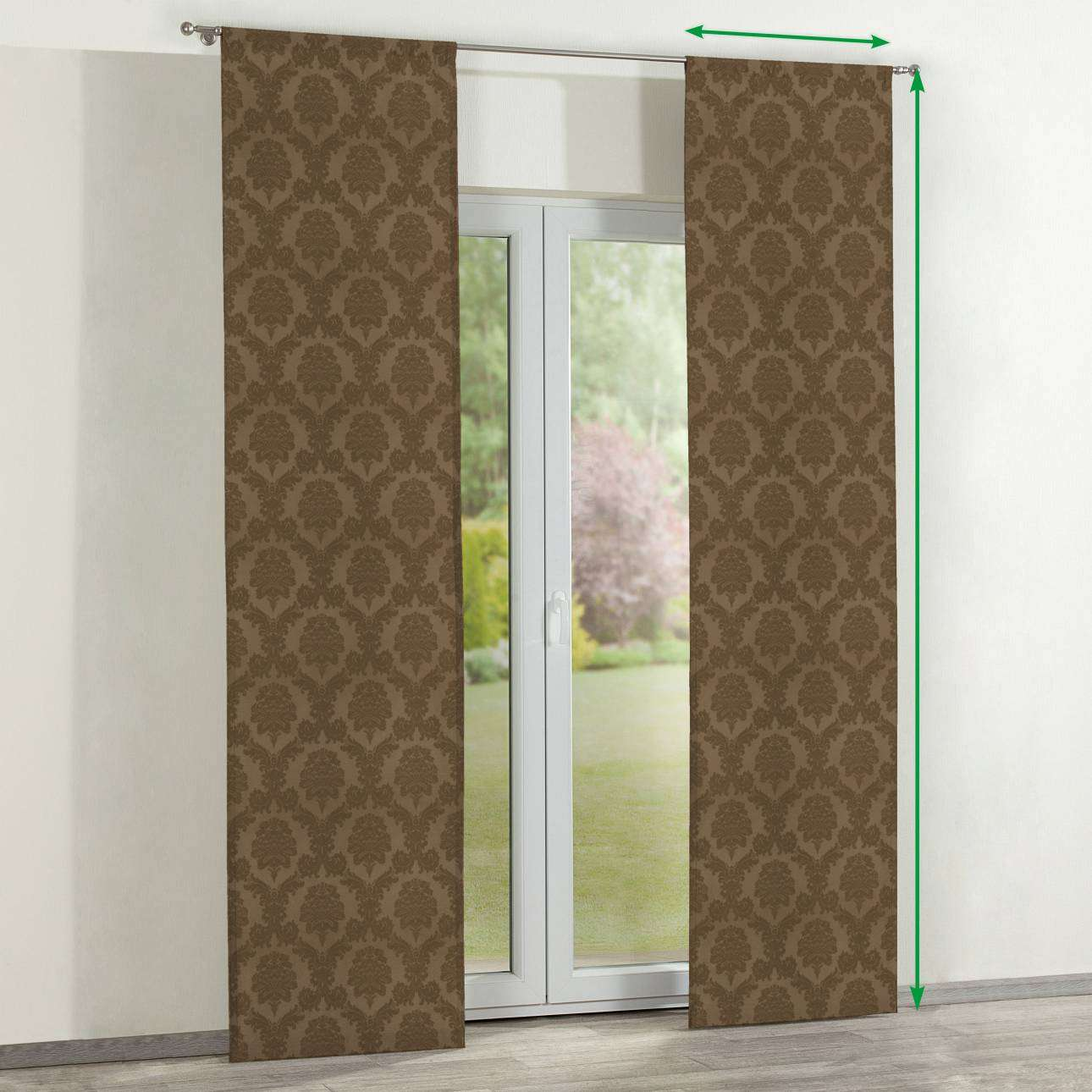 Slot panel curtains – Set of 2 in collection Damasco, fabric: 613-88
