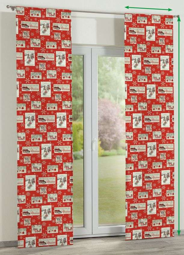 Slot panel curtains – Set of 2 in collection Christmas , fabric: 629-07
