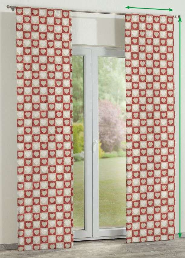 Slot panel curtains – Set of 2 in collection Freestyle, fabric: 629-16
