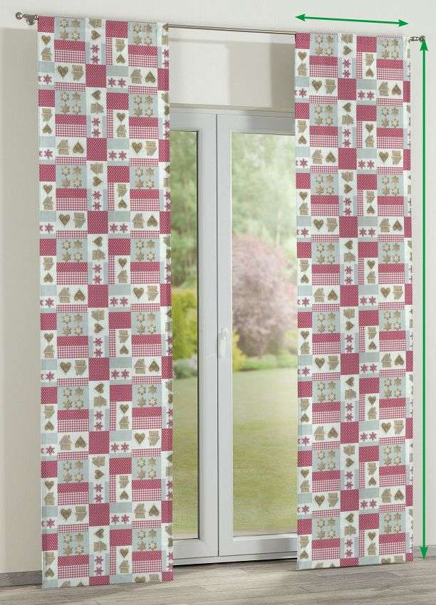 Slot panel curtains – Set of 2 in collection Christmas , fabric: 629-22