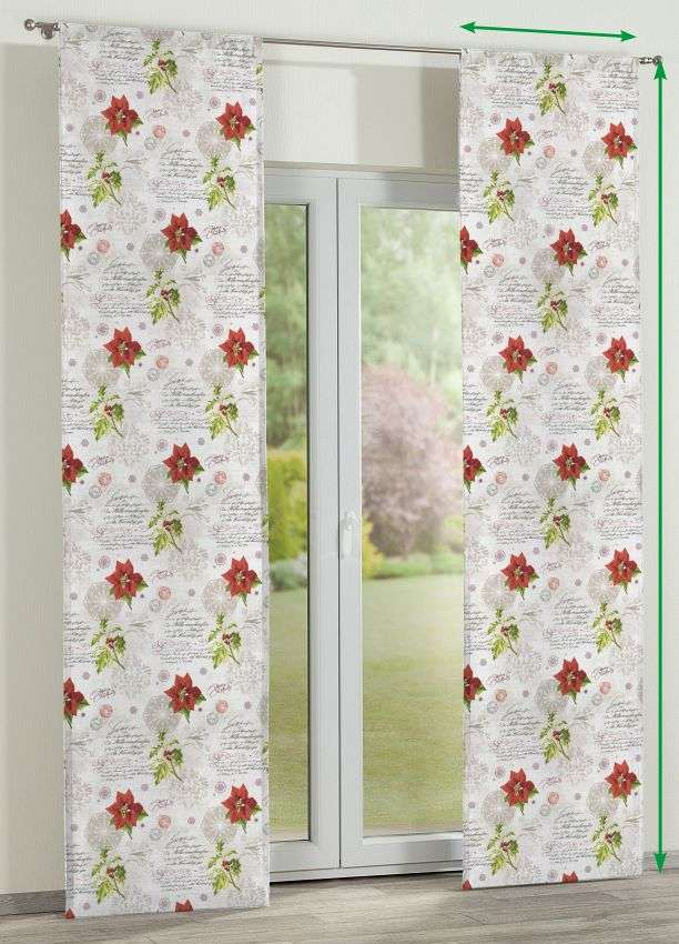 Slot panel curtains – Set of 2 in collection Christmas , fabric: 629-24