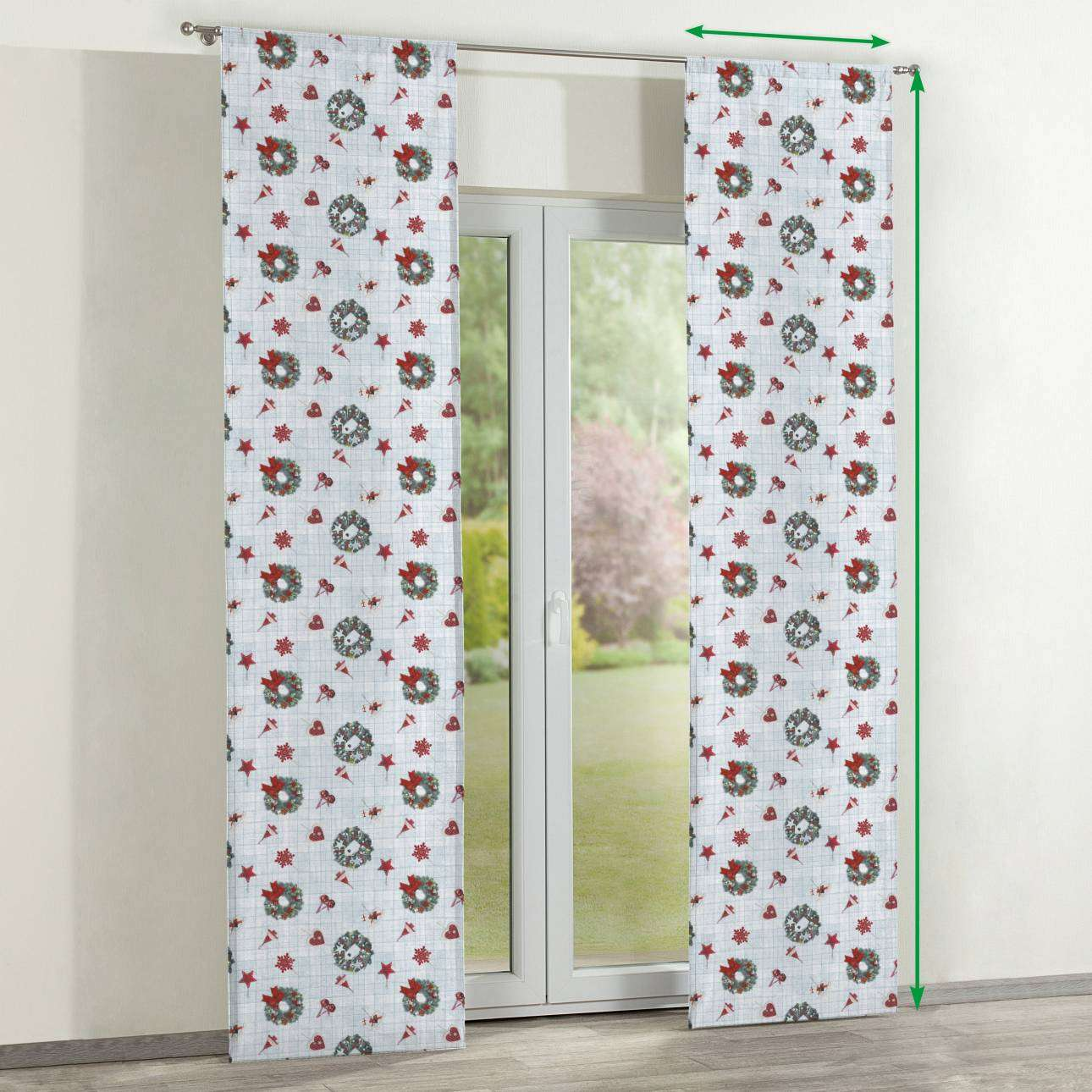 Slot panel curtains – Set of 2 in collection Christmas , fabric: 629-26