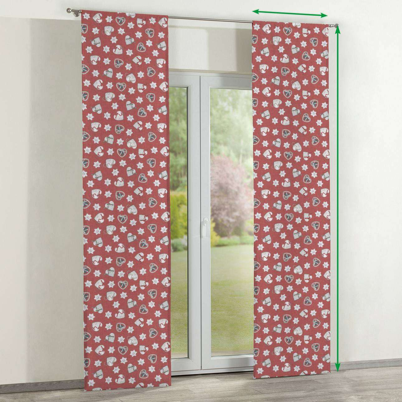 Slot panel curtains – Set of 2 in collection Christmas , fabric: 629-29