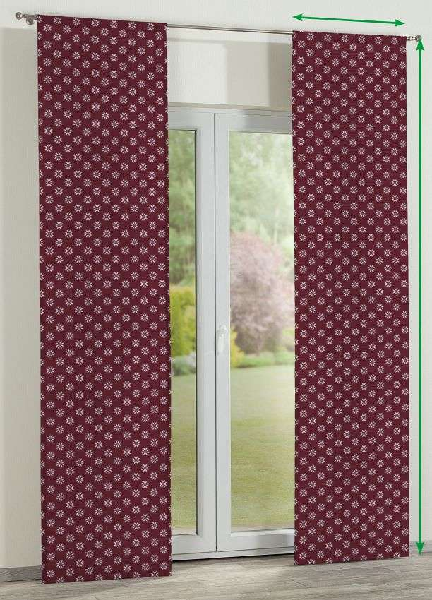 Slot panel curtains – Set of 2 in collection Christmas , fabric: 630-61