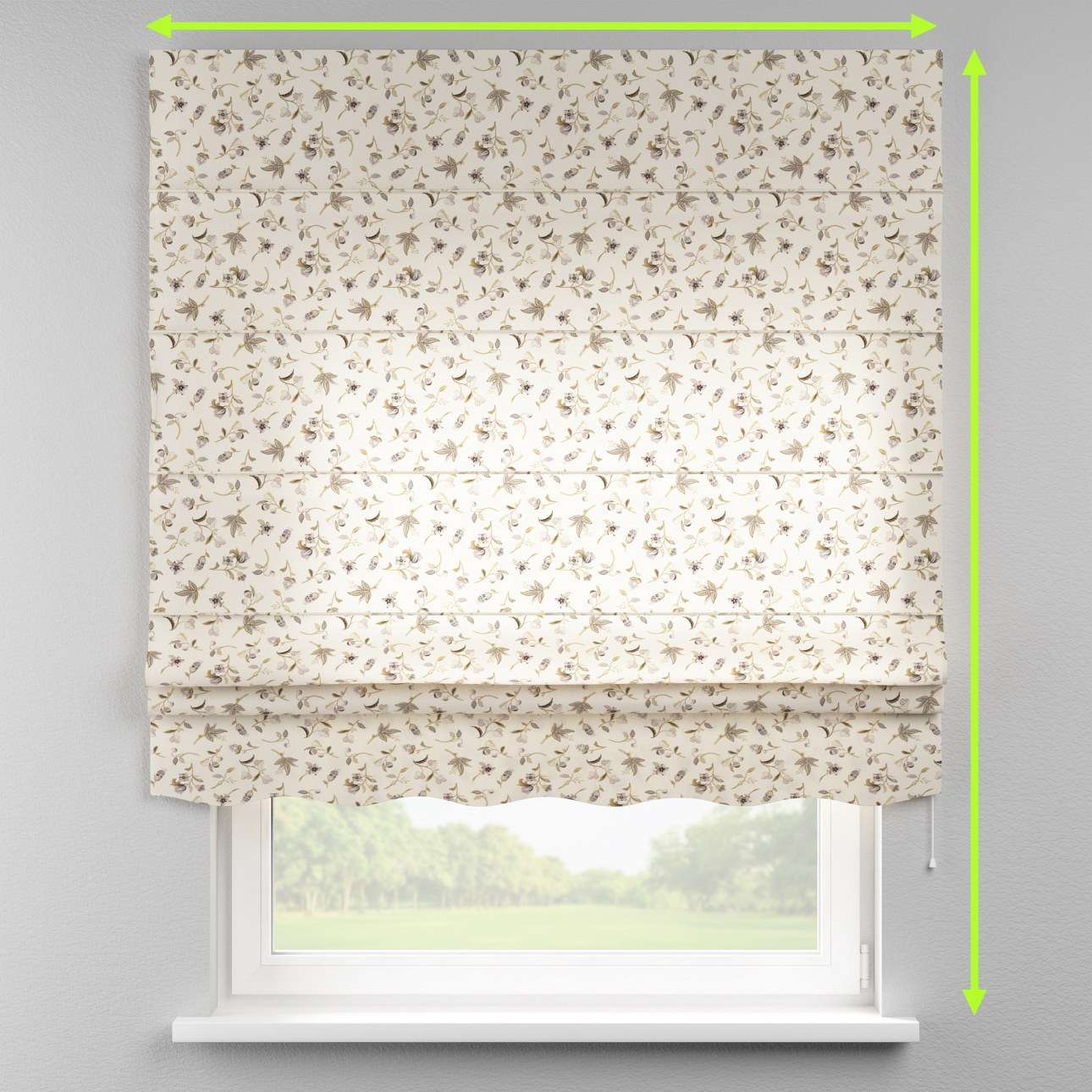 Florence roman blind  in collection Londres, fabric: 122-04