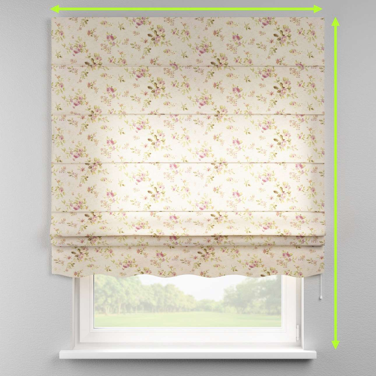 Florence roman blind  in collection Londres, fabric: 122-07