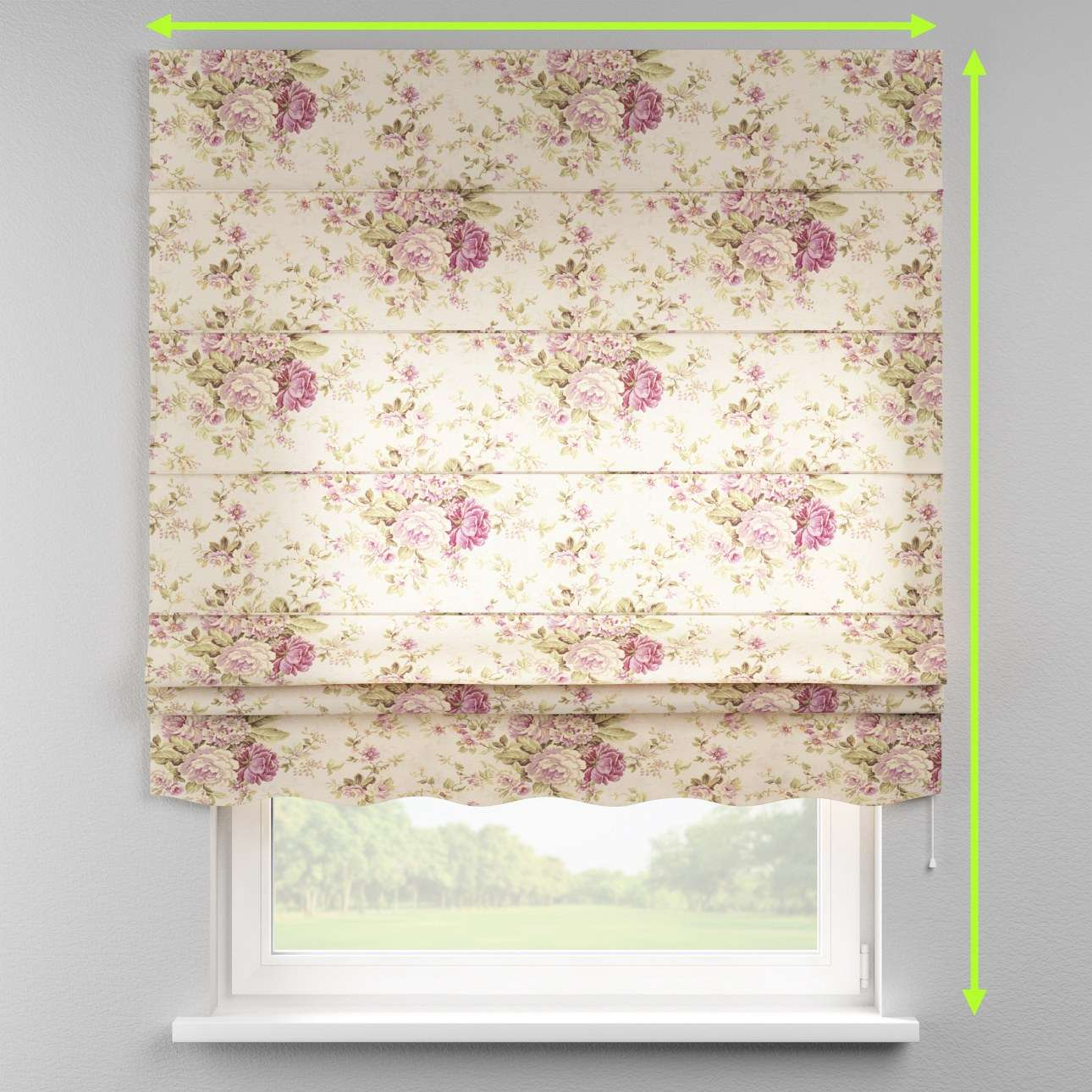 Florence roman blind  in collection Londres, fabric: 122-08