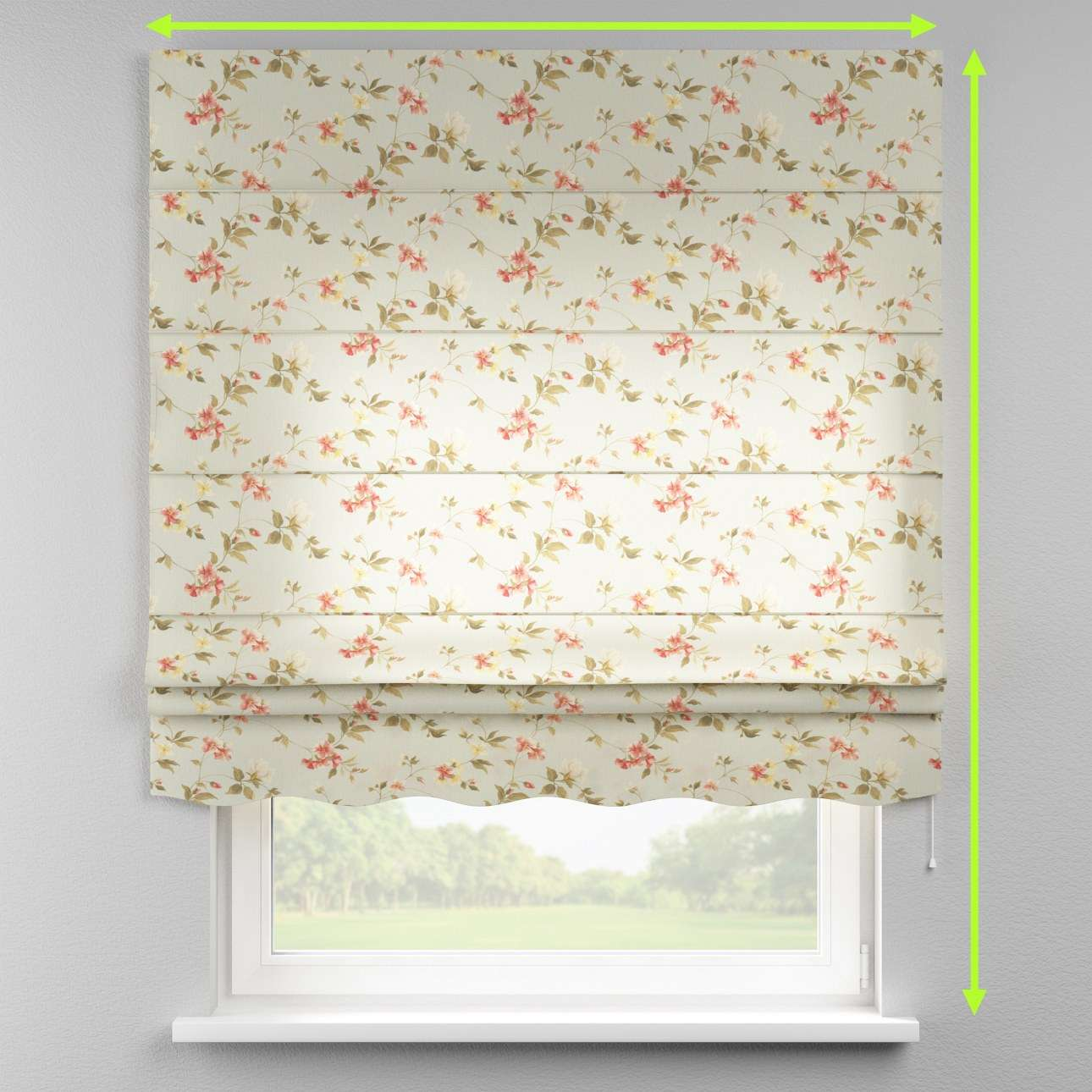 Florence roman blind  in collection Londres, fabric: 124-65