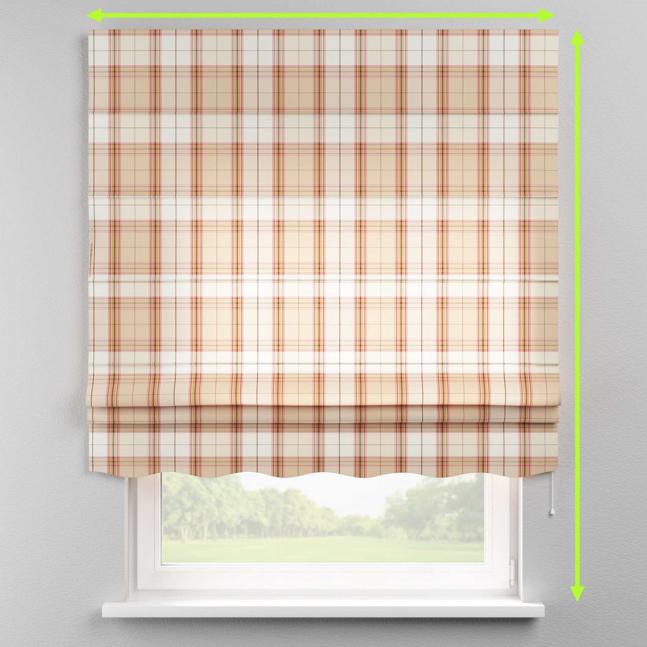 Florence roman blind  in collection Bristol, fabric: 125-09