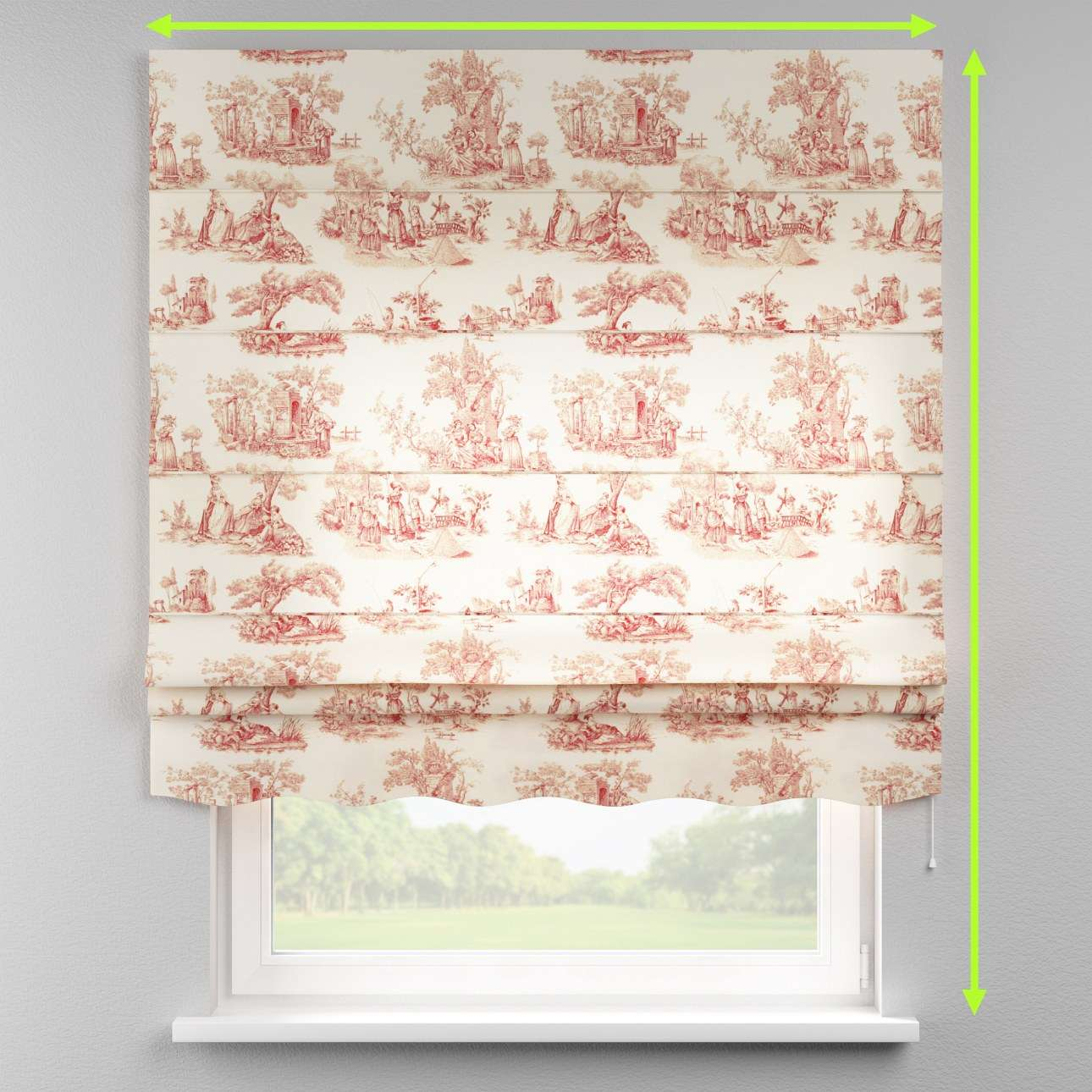 Florence roman blind  in collection Avinon, fabric: 132-15