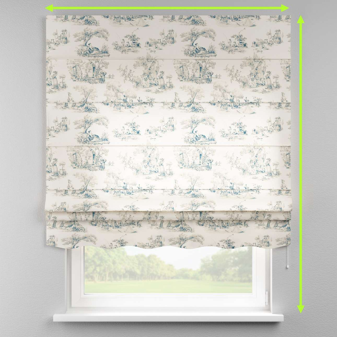 Florence roman blind  in collection Avinon, fabric: 132-66