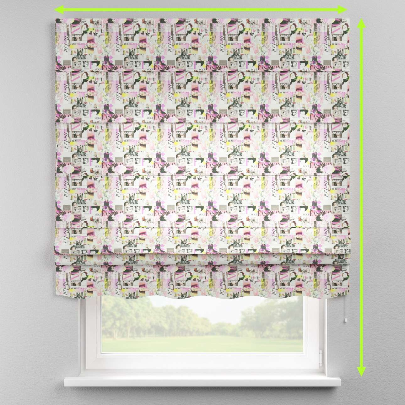 Florence roman blind  in collection Freestyle, fabric: 135-15