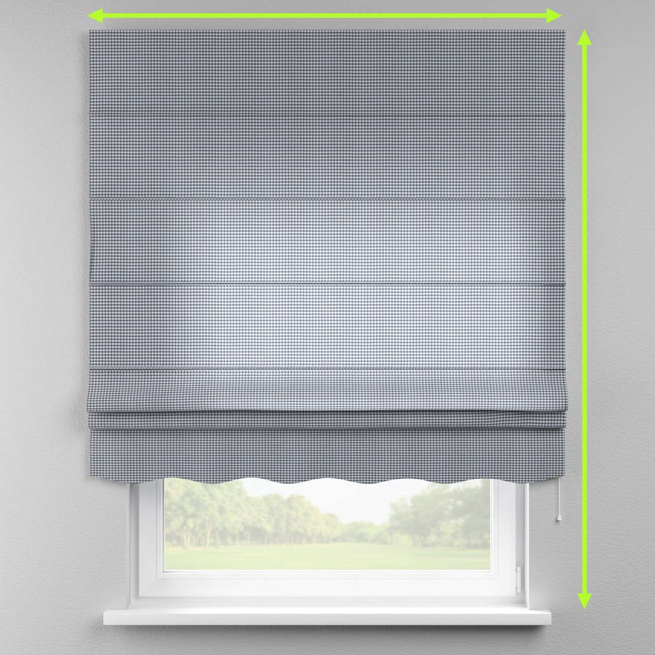 Florence roman blind  in collection Quadro, fabric: 136-00