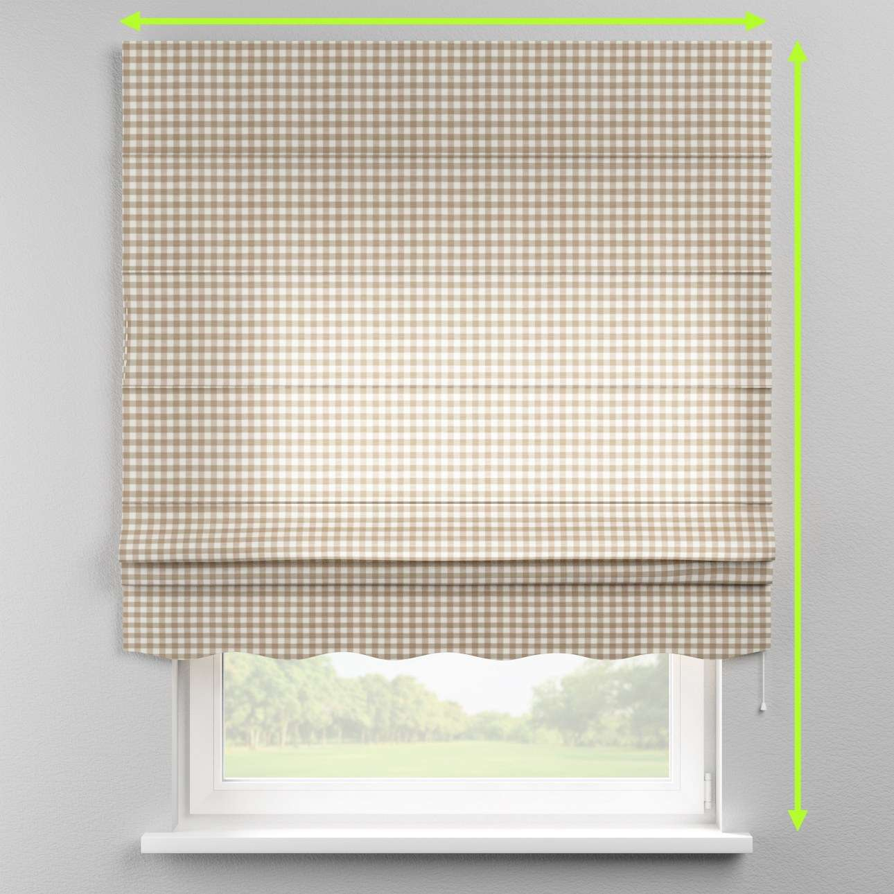Florence roman blind  in collection Quadro, fabric: 136-06