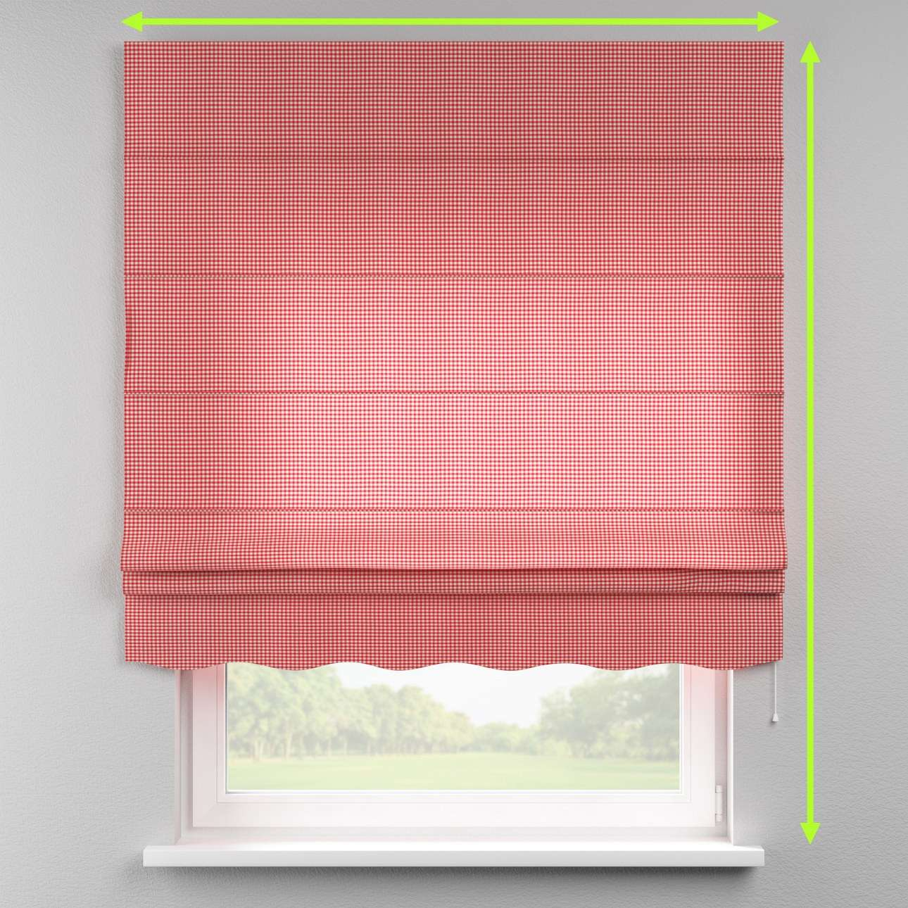 Florence roman blind  in collection Quadro, fabric: 136-15
