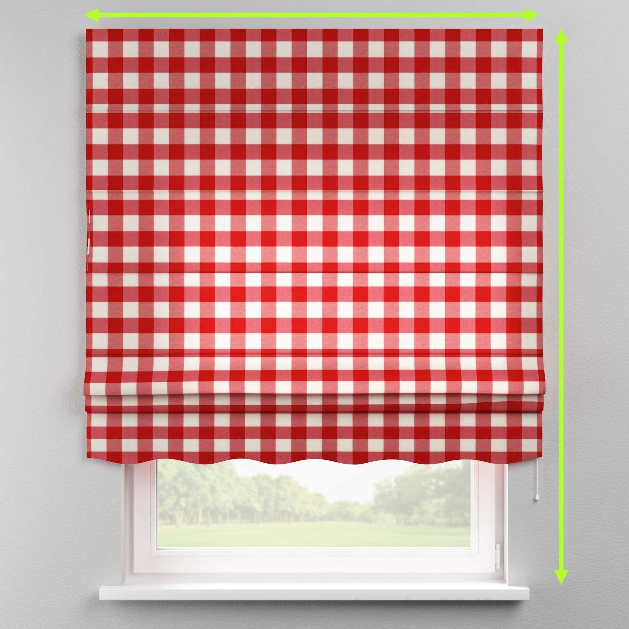 Florence roman blind  in collection Quadro, fabric: 136-18