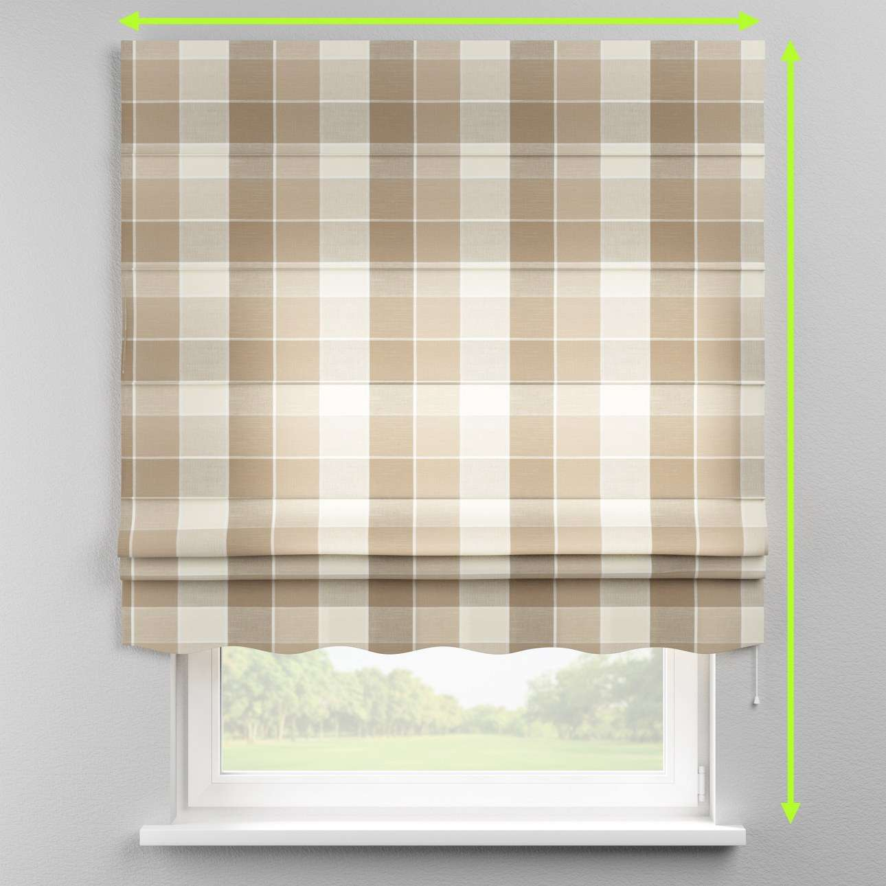 Florence roman blind  in collection Cardiff, fabric: 136-28