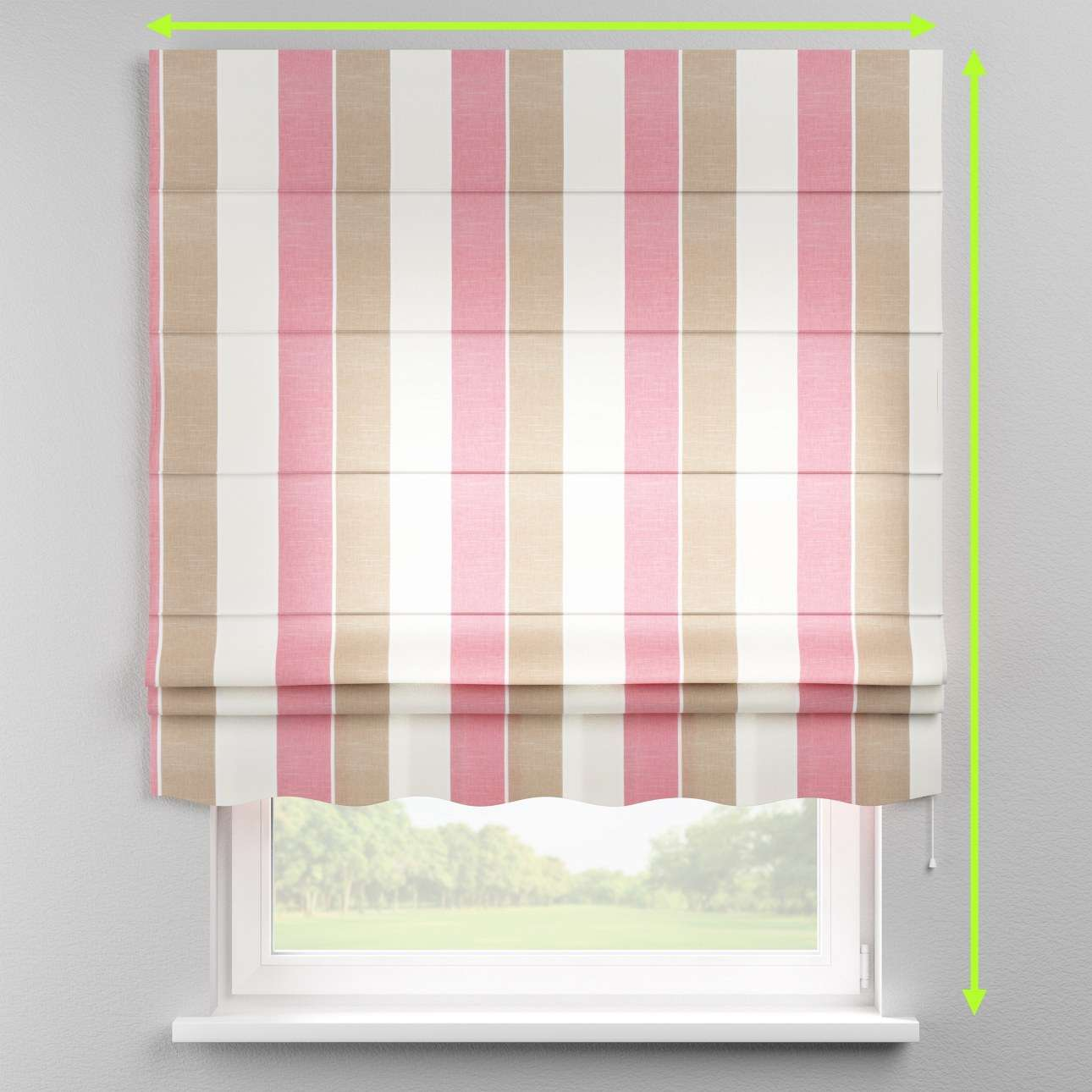 Florence roman blind  in collection Cardiff, fabric: 136-32