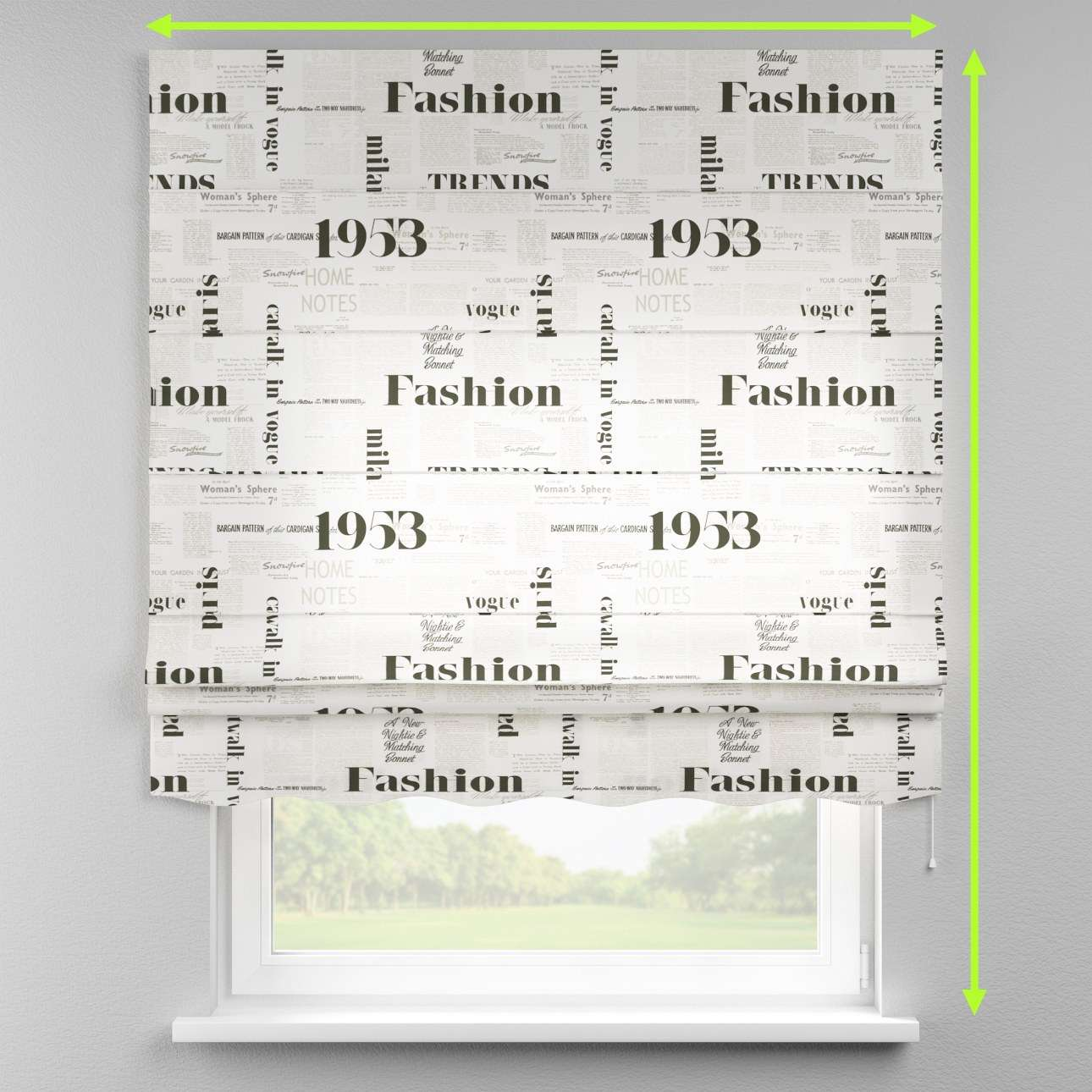Florence roman blind  in collection Comic Book & Geo Prints, fabric: 137-60