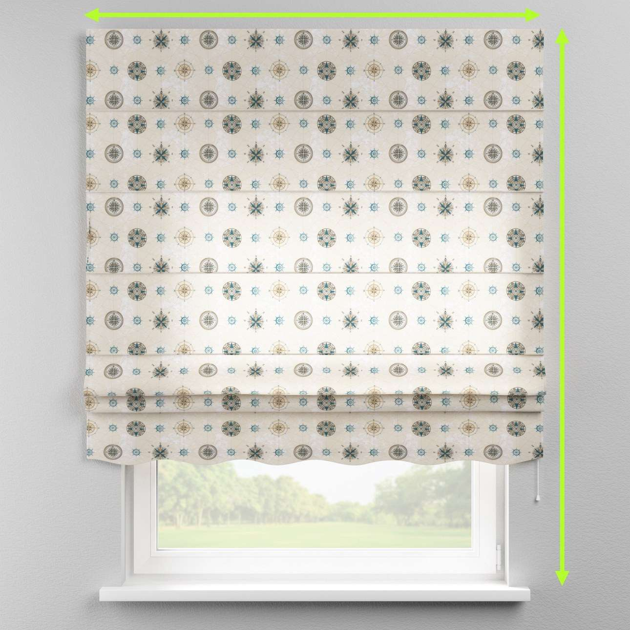 Florence roman blind  in collection Freestyle, fabric: 137-63