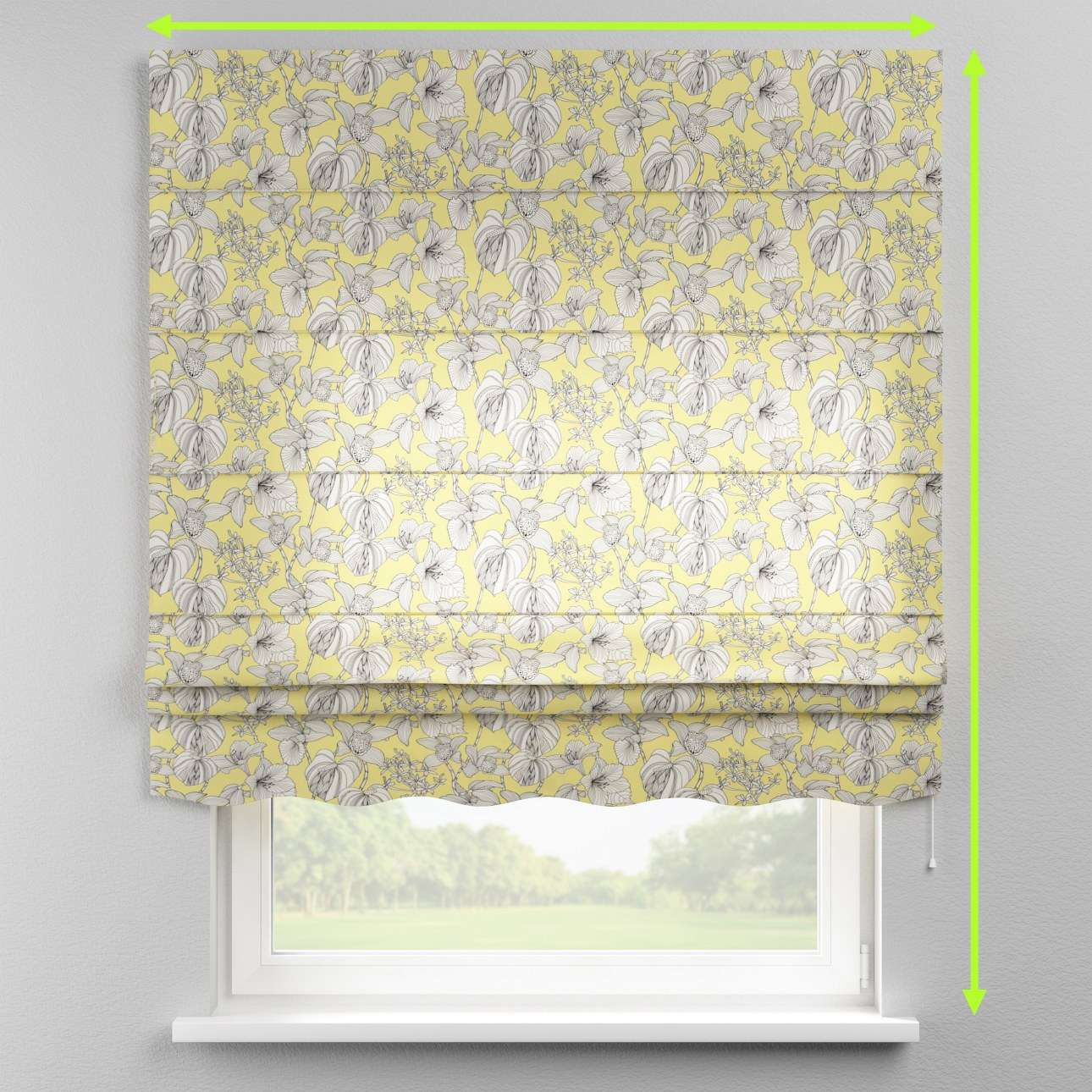 Florence roman blind  in collection Brooklyn, fabric: 137-78