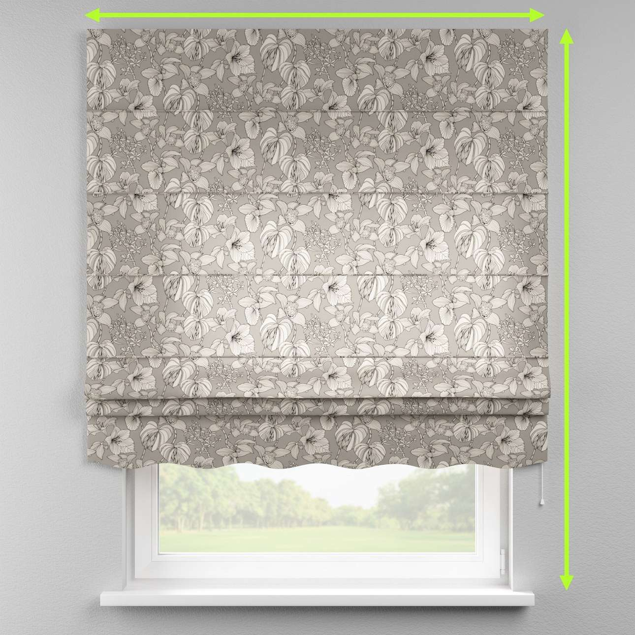 Florence roman blind  in collection Brooklyn, fabric: 137-80