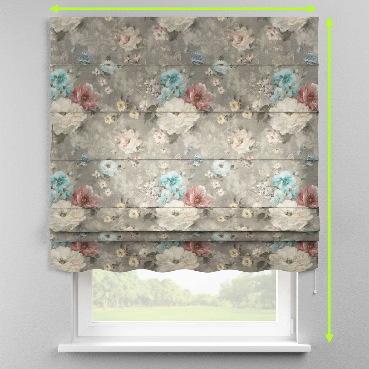 Florence roman blind  in collection Monet, fabric: 137-81