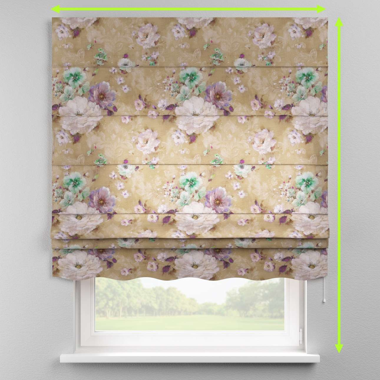 Florence roman blind  in collection Monet, fabric: 137-82