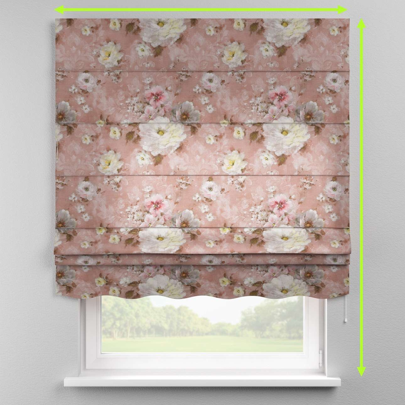 Florence roman blind  in collection Monet, fabric: 137-83