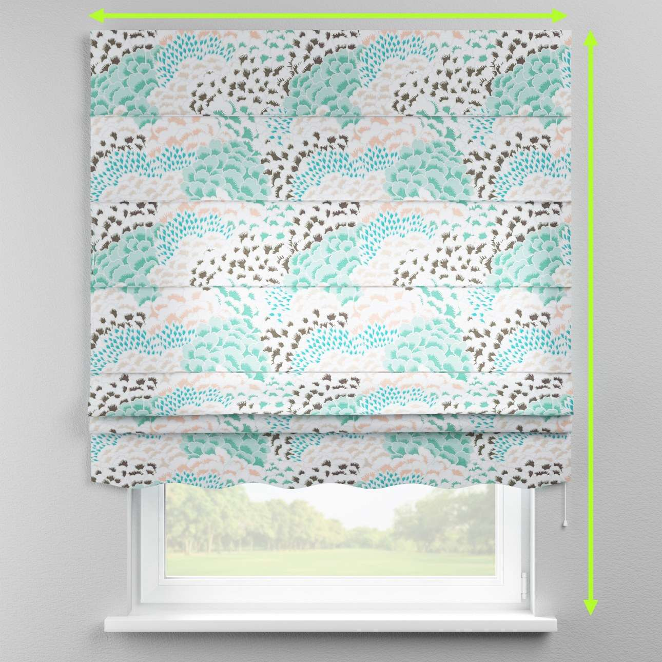 Florence roman blind  in collection Brooklyn, fabric: 137-89