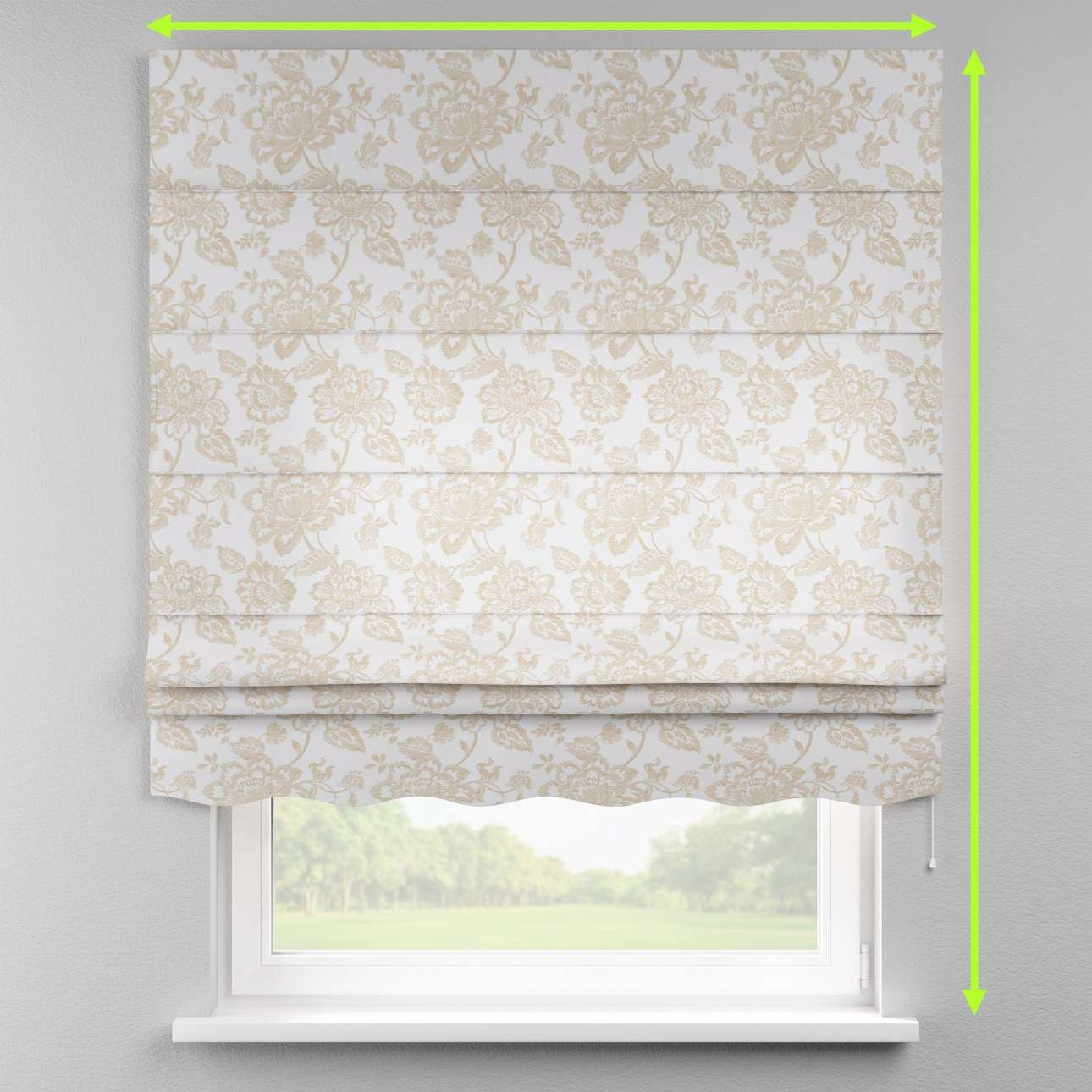 Florence roman blind  in collection Rustica, fabric: 138-23